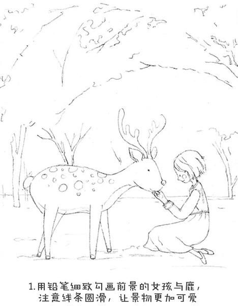 是樱花树下的小鹿?还是短发的红脸蛋女孩?