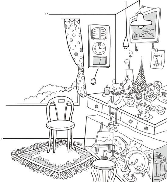 手绘房间简笔画